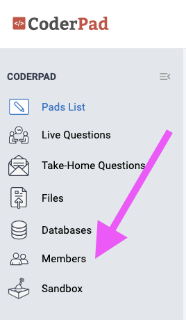 CoderPad Members Section